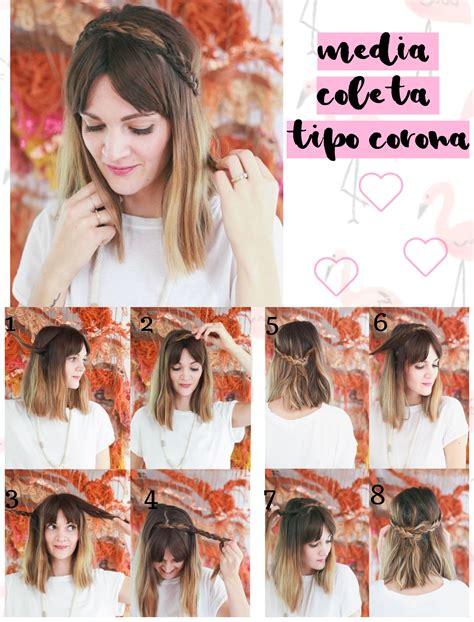 peinados cortos faciles peinados de trenzas faciles para cabello corto peinados