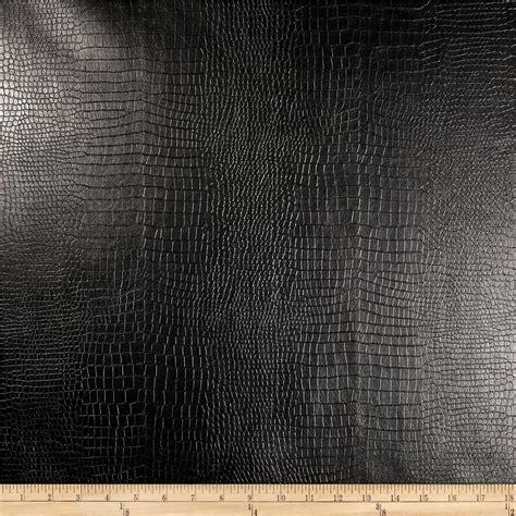 fake leather upholstery richloom faux leather reptile black discount designer