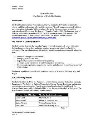journal article review sample  editable fillable printable  templates