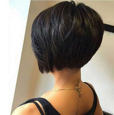 pic of back of shaved aline ahaircuts short layered bob hairstyles 2016 when com image