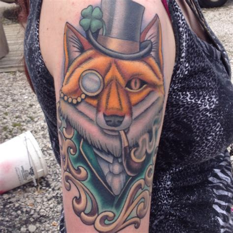 black and white mr fox a pipe design 34 amazing pipe tattoos
