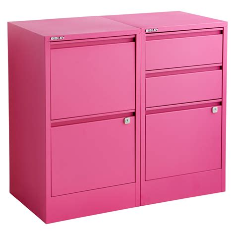 Pink Filing Cabinet Bisley Pink 2 3 Drawer Locking Filing Cabinets The Container