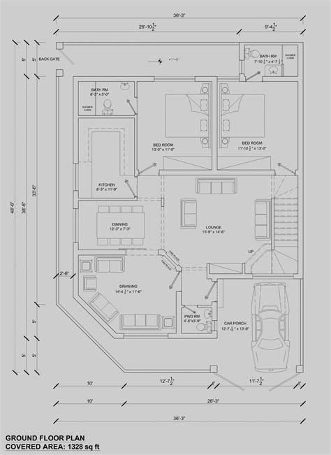 floor plans program house floor plan by 360 design estate 7 5 marla