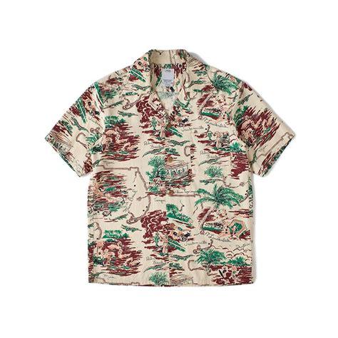 bandana rajut jumbo taupe visvim duke shirt s s cotton rayon beige how