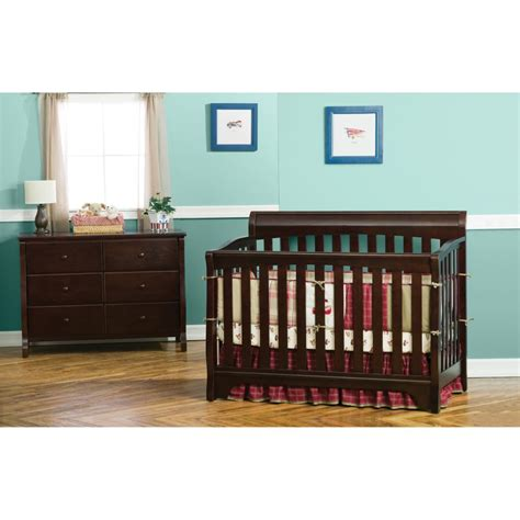 Delta Children Eclipse 4 In 1 Espresso Convertible Crib Delta Eclipse 4 In 1 Convertible Crib