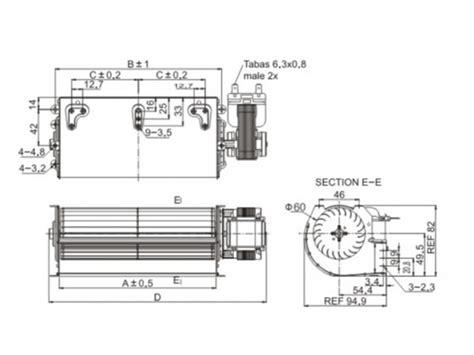 cross flow fan 60mm ac cross flow fan lepuda