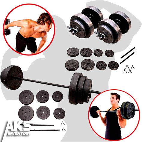 Home Equipment Free Weights Weight Sets 100lb Barbell 40lb Dumbell Free Weights Home