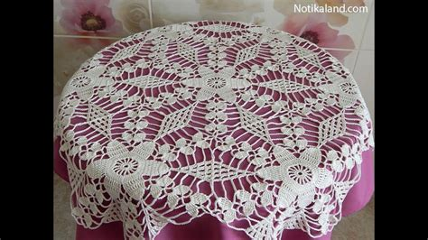crochet motif patterns for tablecloth part 5 how to join
