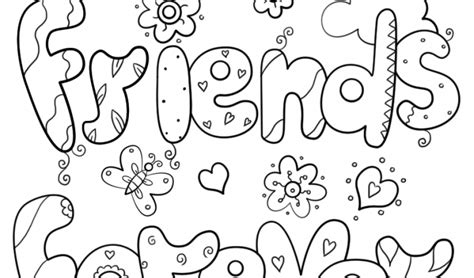 Best Friends Forever Coloring Page Free Printable Best Friends Forever Coloring Pages For Free