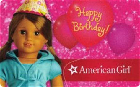 American Girl Gift Card - gift card happy birthday doll american girl united states of america american