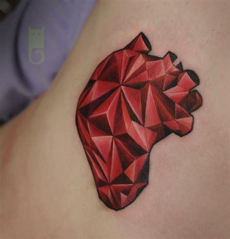 geometric heart tattoo http tattoos ideas net geometric by gleb