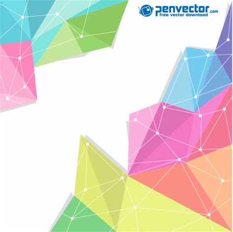 background design vector cdr file colorful polygon modern background free vector