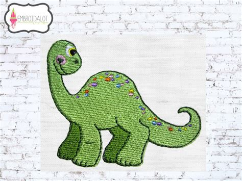 embroidery design dinosaur dinosaur embroidery design cute bontosaurus dinosaur machine