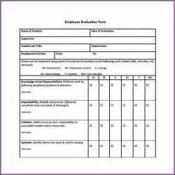 employee evaluations templates employee evaluation form designproposalexle