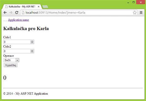 tutorial asp net mvc c 4 d 237 l zpracov 225 n 237 dat a validace v asp net mvc