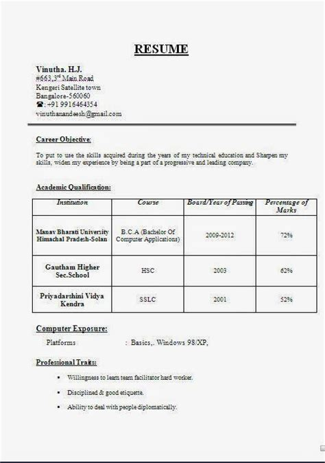 Resume Format Pdf For 12th Pass Student Accountant Resume Sles