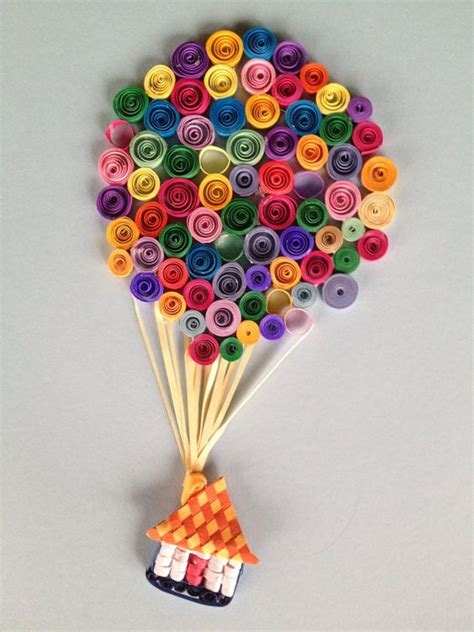 How To Make Quilling Paper Strips At Home - quilled air balloon adventure paper strips quilling