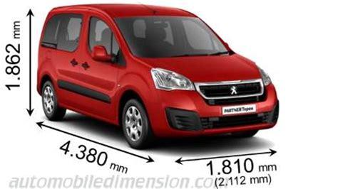 Partner Peugeot Abmessungen Der Peugeot Autos Mit L 228 Nge Breite Und H 246 He