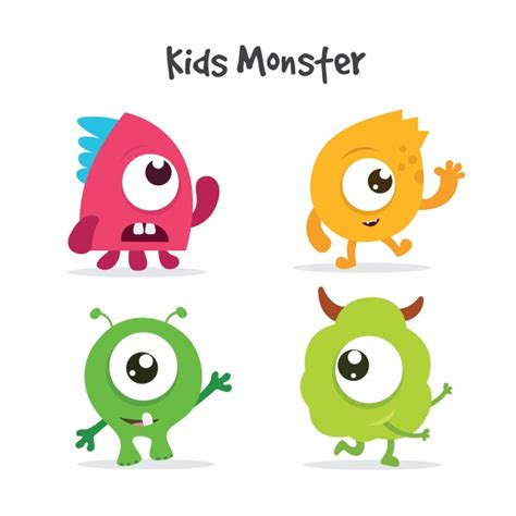 monsters free monsters collection vector free