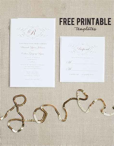 wedding invitation cards templates free 8 best images of wedding program template free printable