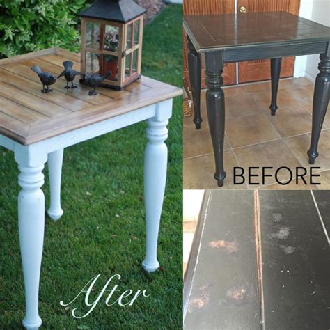 chalk paint stained wood faux stain with chalk paint
