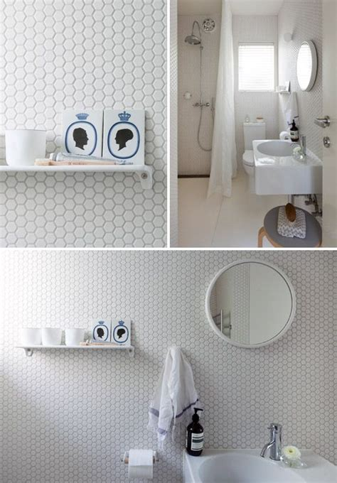 White Hexagon Tile Bathroom by 32 White Hexagon Bathroom Tile Ideas And Pictures