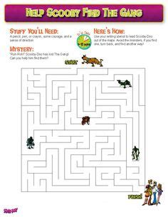 printable scooby doo activity sheets 1000 images about scooby doo activities on pinterest
