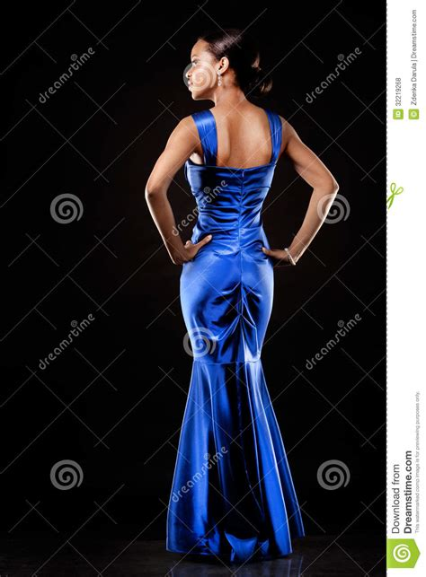 who is the woman wearing a blue dress in the viagra commercial black woman in evening gown stock photo image 32219268