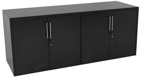 Black Office Credenza black salon reception desk