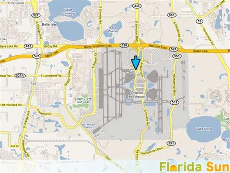 Orlando International Airport   Rental Car Map