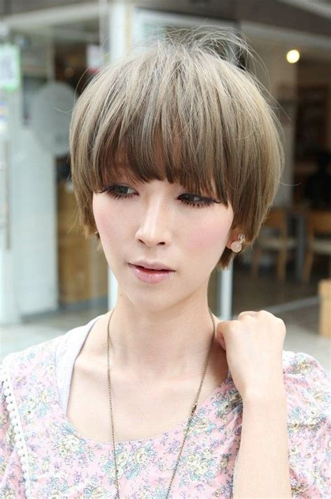 revenge asian woman short hair beautiful bowl cut with retro fringe short japanese
