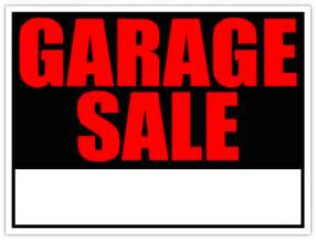 Designer Garage Sale generic garage sale sign yard sale signs