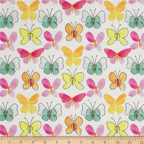 discount designer fabric clearance discount home happy meadows butterflies white discount designer fabric
