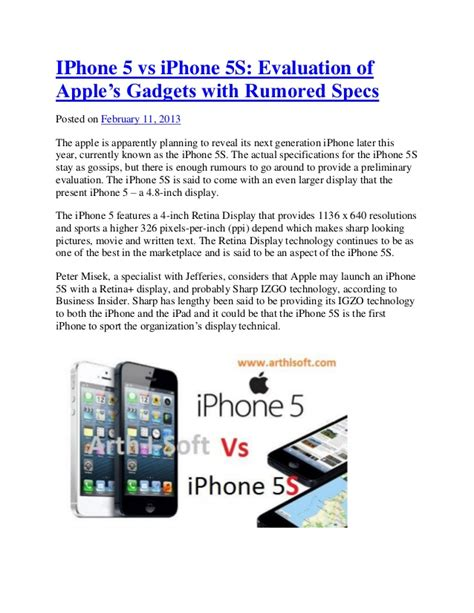 iphone 5 vs iphone 5s evaluation of apple s gadgets with rumored spe