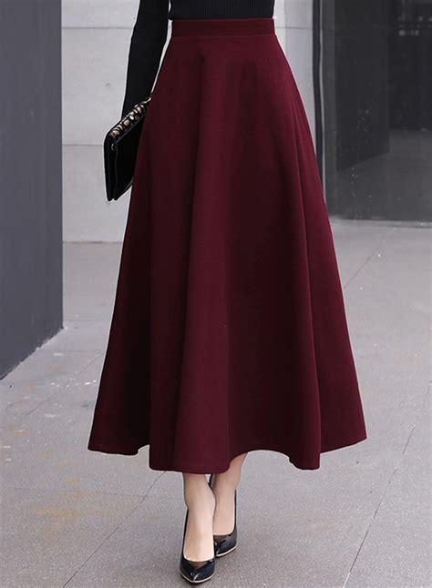 s high waist a line maxi skirt achicgirl