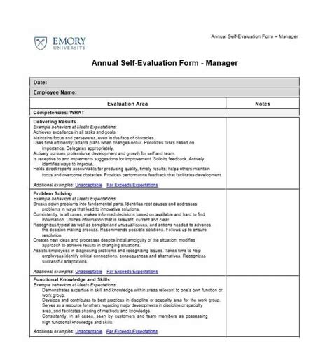 self evaluation self evaluation forms exles understand the background of
