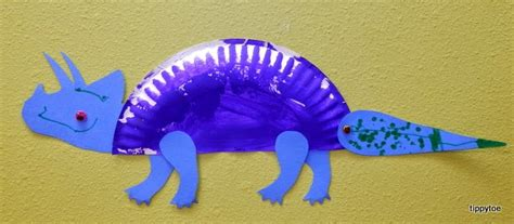 Paper Plate Dinosaur Craft - tippytoe crafts paper plate dinosaurs