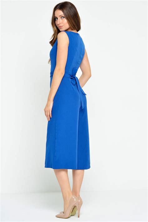 Uniforme Blue Culotte M iclothing donna culotte jumpsuit in royal blue iclothing