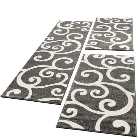 guide tappeti set tappeti guide motivo classico 3 pz grigio bianco