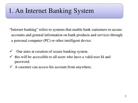 banking system project proposal
