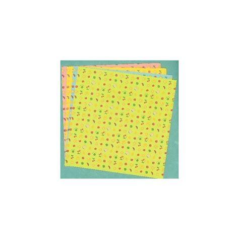 Bulk Origami Paper - origami paper sided fruit print 150 mm 12