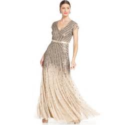 papell wedding dress papell cap sleeve sequined gown size 4