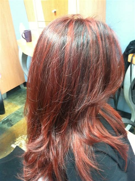 gallery blonde highlights onbre red with copper highlights lowlights with a mix of ombr 233