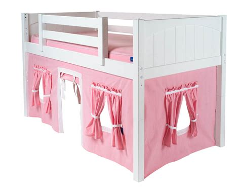 loft bed curtain 2 story playhouse loft bed w slide pink green yellow on white