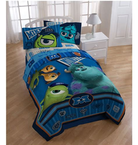 3pc monsters inc scare university twin bed sheet set