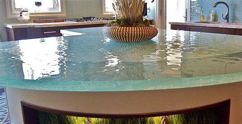 Recycled Glass Countertops Cost Comparison by Glass Countertop Glass Countertop Kitchen