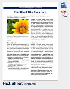 Blank Fact Sheet Template by Fact Sheet Template 15 Free Word Pdf Documents