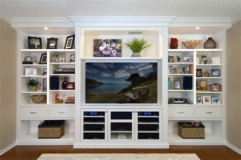 Flat Screen Wall Cabinet With Doors by Custom Cabinets Orlando Built In Closet Tv Wall Units