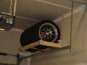 Tire Storage Garage Journal Bench Guide Diy Tire Rack For Garage