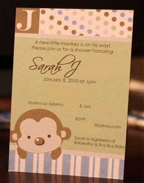 monkey baby shower invitations printable monkey decorations monkey birthday food ideas